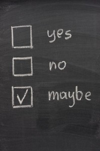 undecided - yes, no and maybe check boxes on blackboard